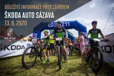 Důležité informace před závodem ŠKODA AUTO Sázava!