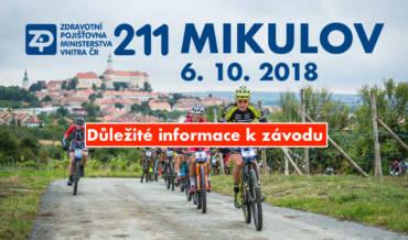 Důležité informace k závodu ZP 211 Mikulov